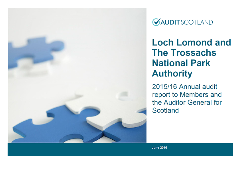 Report cover: Loch Lomond and The Trossachs National Park Authority annual audit 2015/16
