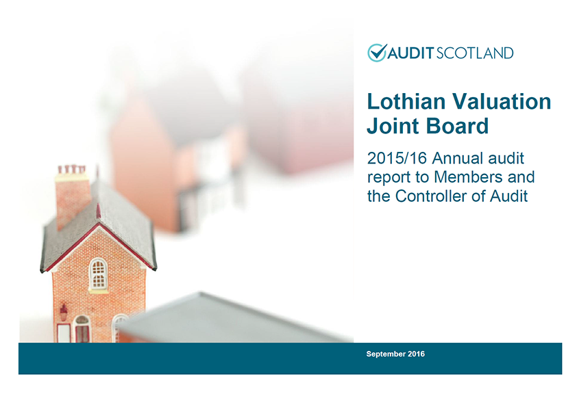 Report cover: Lothian Valuation Joint Board annual audit 2015/16