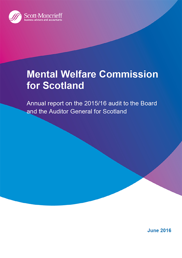 Report cover: Mental Welfare Commission for Scotland annual audit 2015/16