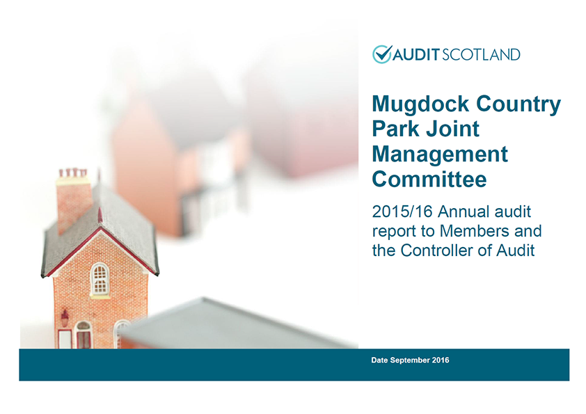 Report cover: Mugdock Country Park Joint Management Committee annual audit 2015/16