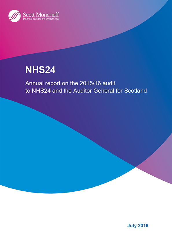 Report cover: NHS 24 annual audit 2015/16