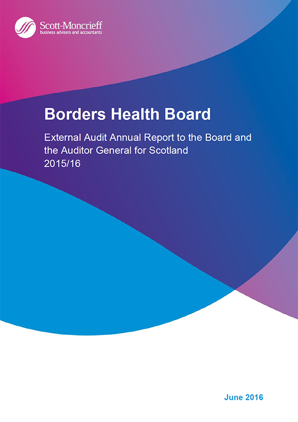 Report cover: NHS Borders annual audit 2015/16