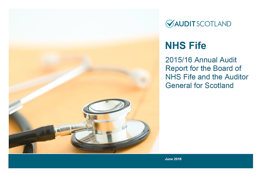 Report cover: NHS Fife annual audit 2015/16