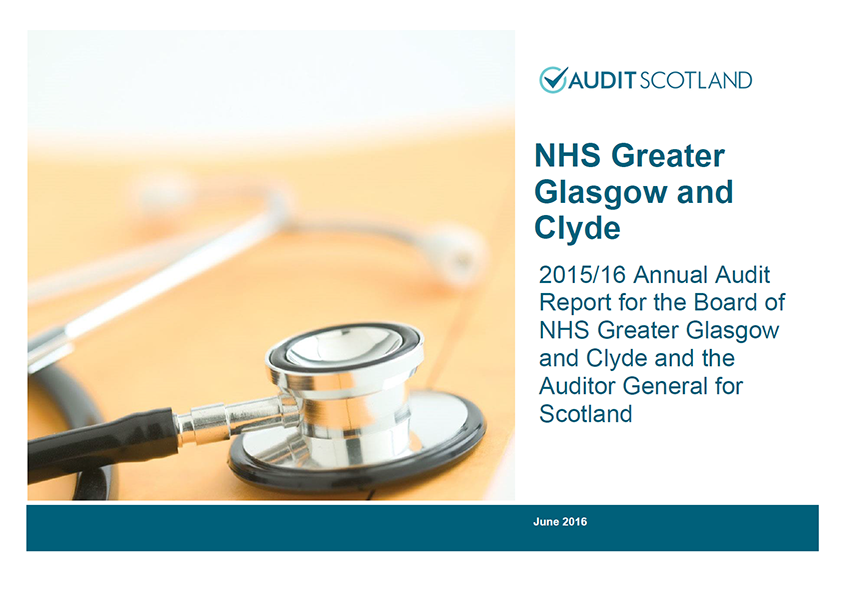 Report cover: NHS Greater Glasgow and Clyde annual audit 2015/16
