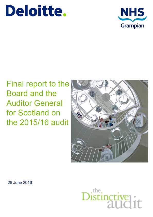 Report cover: NHS Grampian annual audit 2015/16