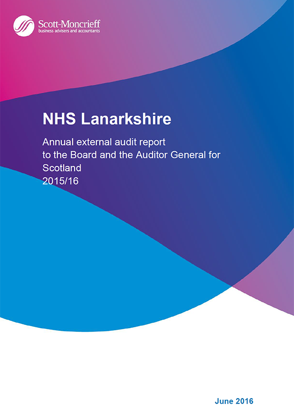 Report cover: NHS Lanarkshire annual audit 2015/16