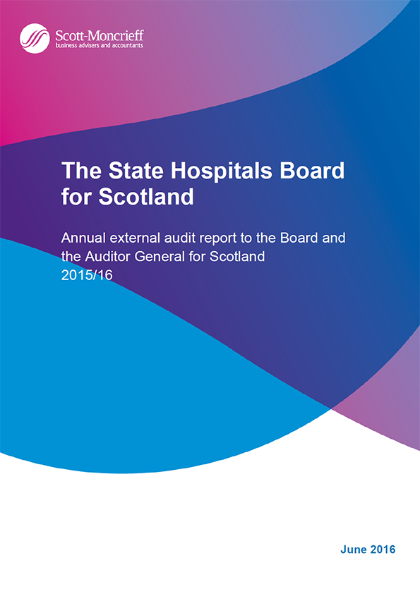 Report cover: The State Hospitals Board for Scotland annual audit 2015/16