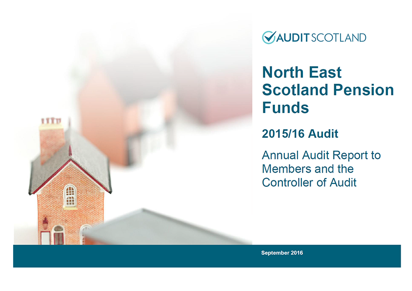Report cover: North East Scotland Pension Fund annual audit 2015/16