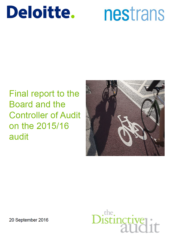 Report cover: North East of Scotland Transport Partnership (NESTRANS) annual audit 2015/16