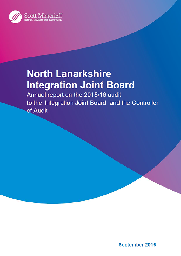 Report cover: North Lanarkshire Integration Joint Board annual audit 2015/16