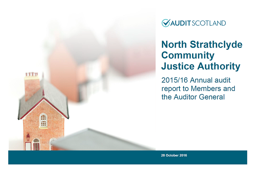 Report cover: North Strathclyde Community Justice Authority annual audit 2015/16
