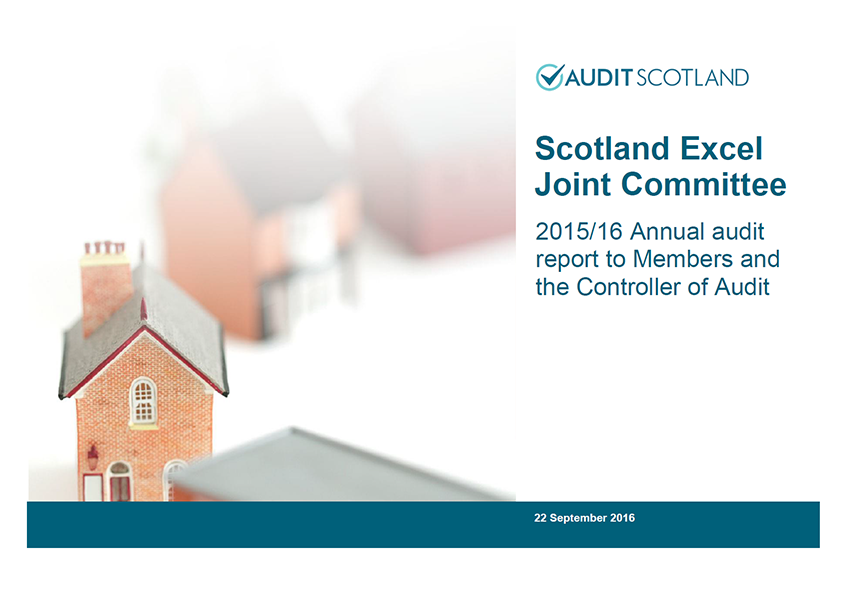 Report cover: Scotland Excel Joint Committee annual audit 2015/16