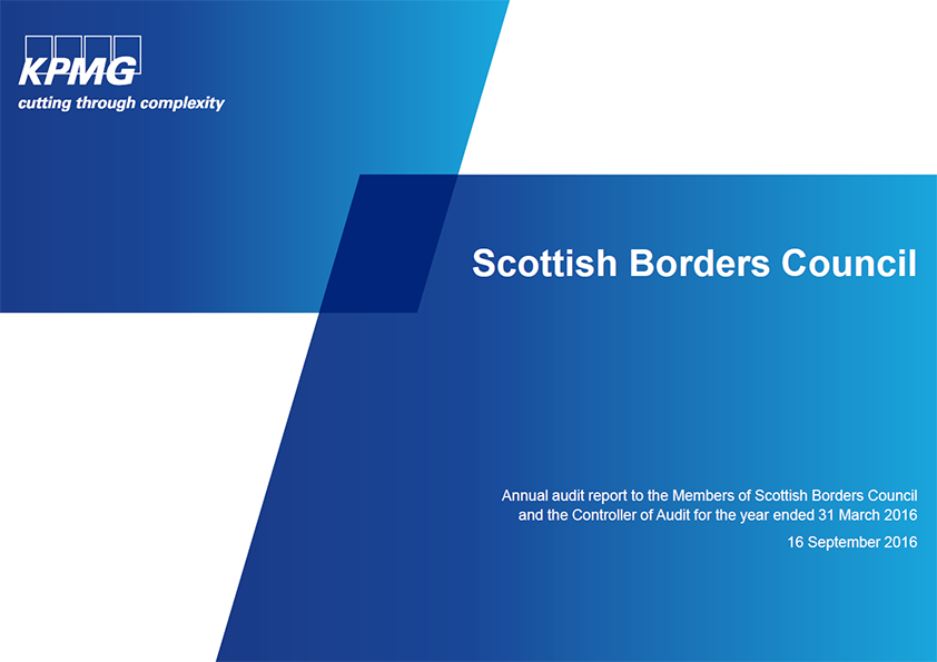 Report cover: Scottish Borders Council annual audit 2015/16