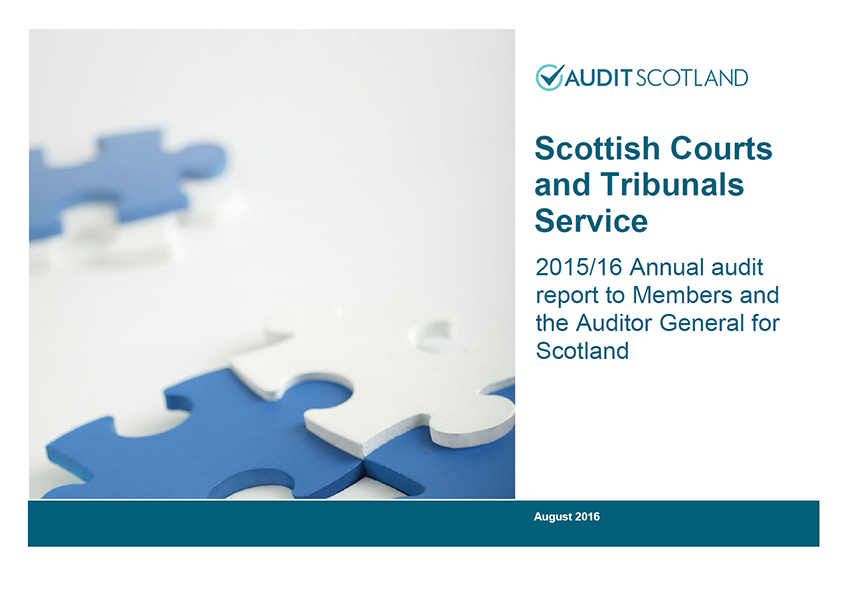 Report cover: Scottish Courts and Tribunals Service annual audit 2015/16