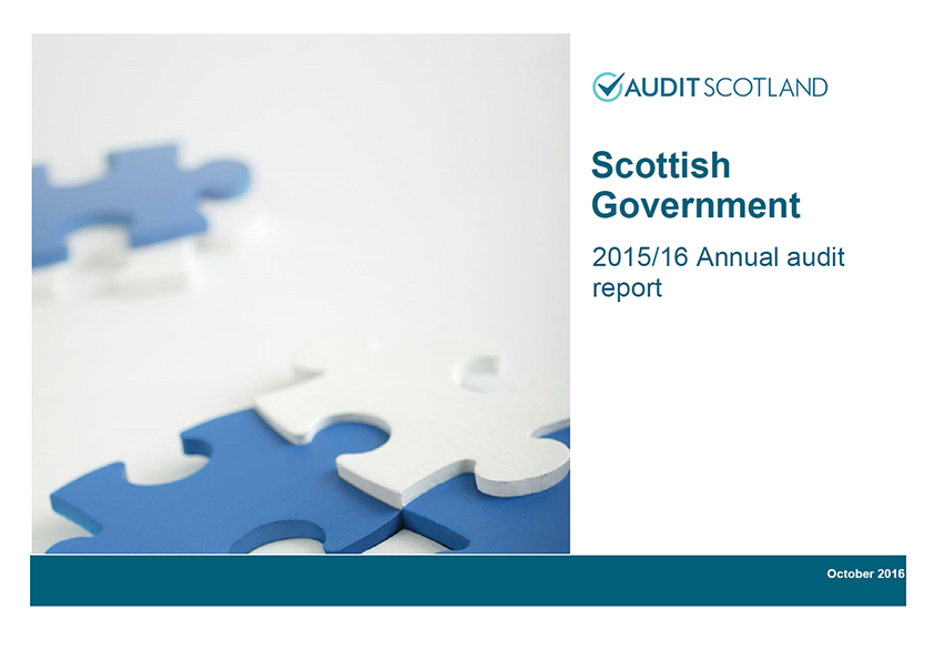 Report cover: Scottish Government annual audit 2015/16
