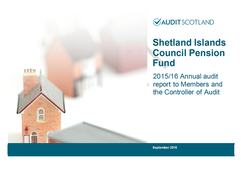 Report cover: Shetland Islands Council Pension Fund annual audit 2015/16