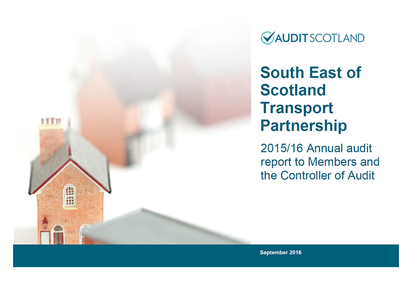 Report cover: South East of Scotland Transport Partnership annual audit 2015/16