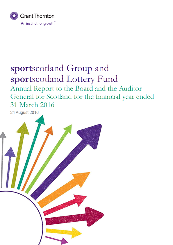 Report cover: Sportscotland Group annual audit 2015/16