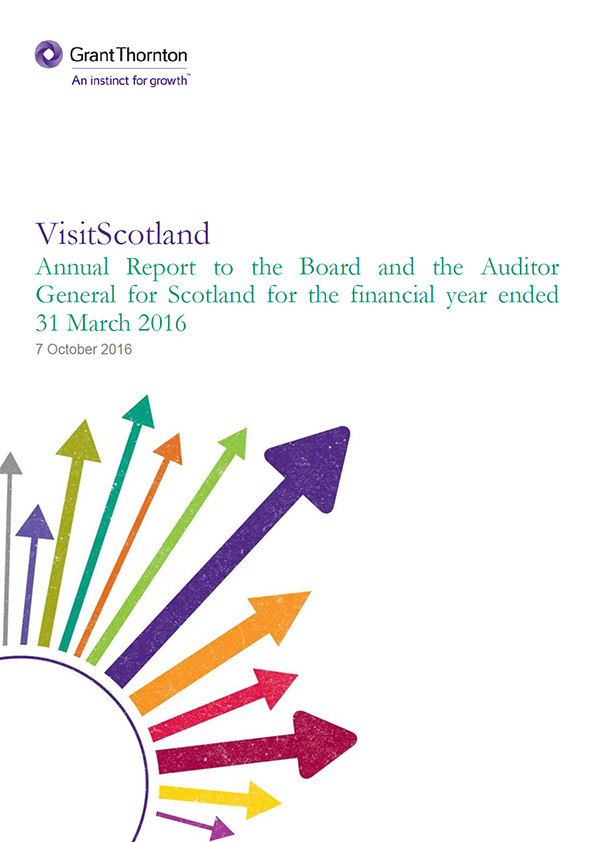 Report cover: VisitScotland annual audit 2015/16