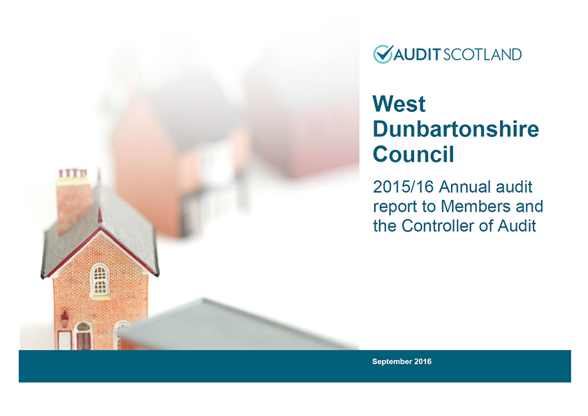 Report cover: West Dunbartonshire Council annual audit 2015/16