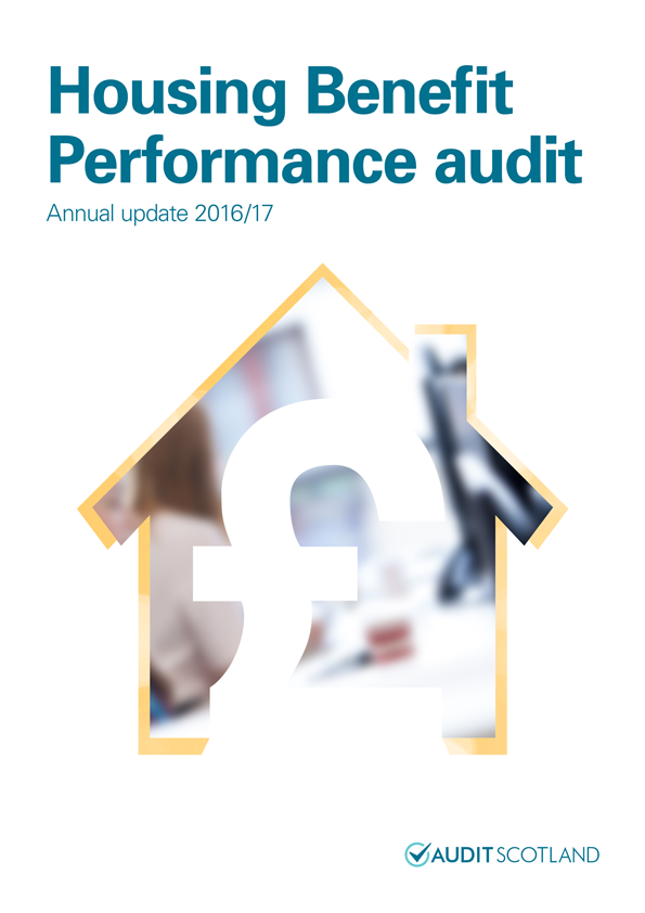 Report cover: Housing Benefit performance audit: annual update 2016/17