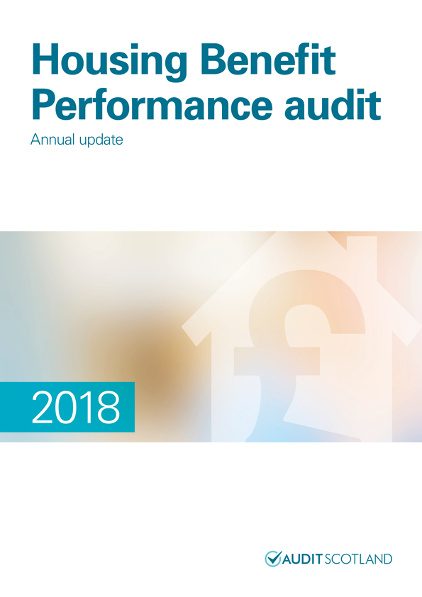 Report cover: Housing Benefit Performance audit: annual update 2018