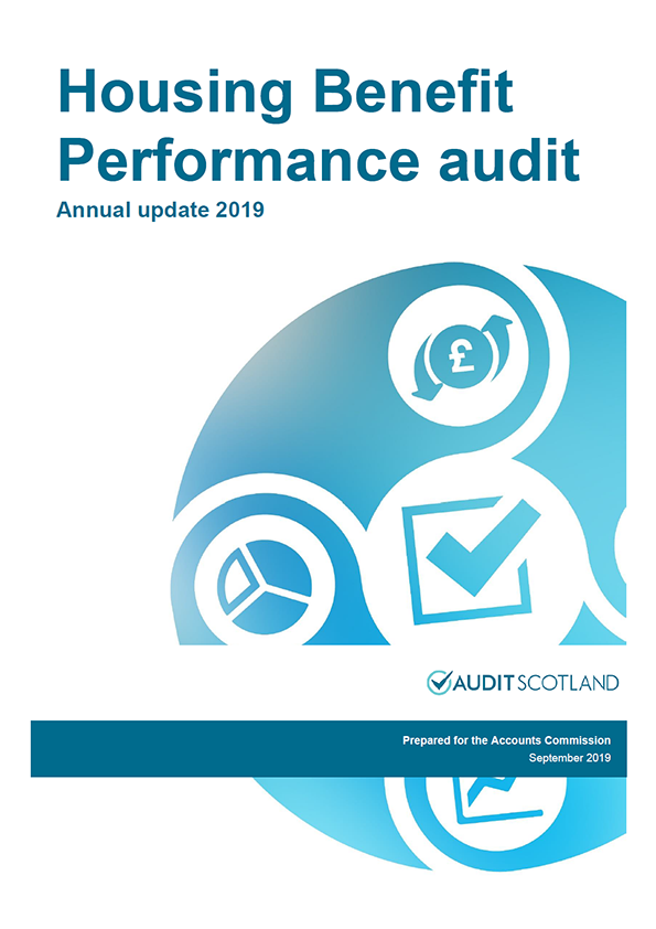 Report cover: Housing Benefit Performance audit: annual update 2019