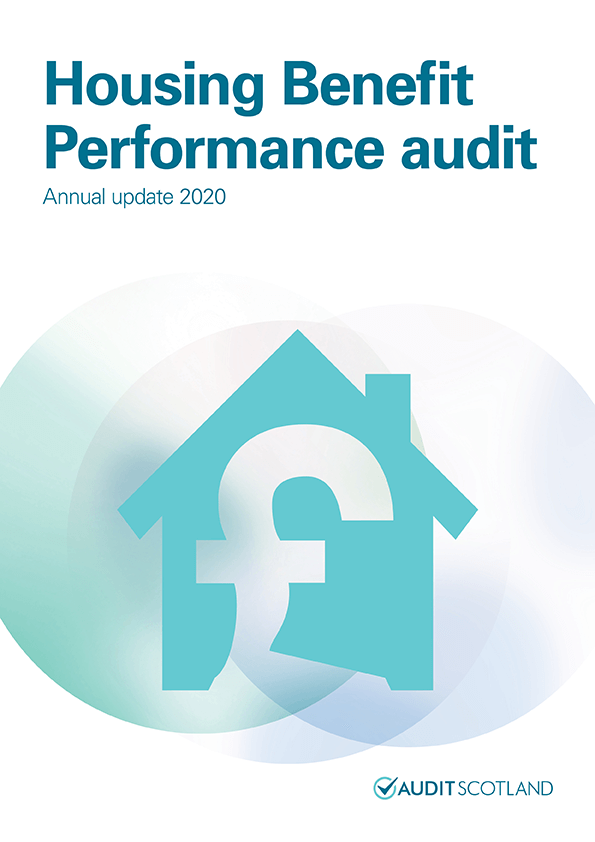 Report cover: Housing Benefit Performance audit: annual update 2020