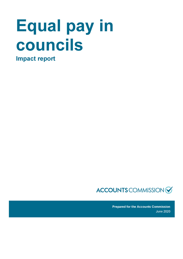 Report cover: Equal pay in councils - Impact report