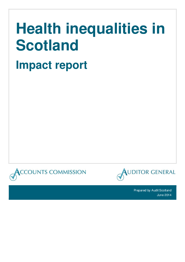 Report cover: Health inequalities in Scotland – Impact report