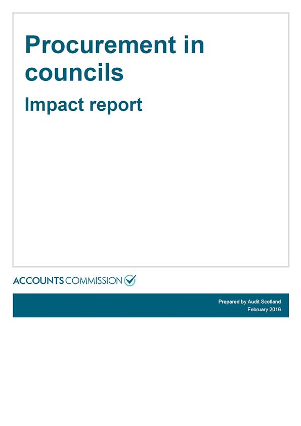 Report cover: Procurement in councils - Impact report