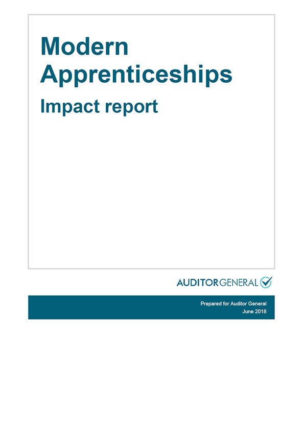 Report cover: Modern Apprenticeships - Impact report