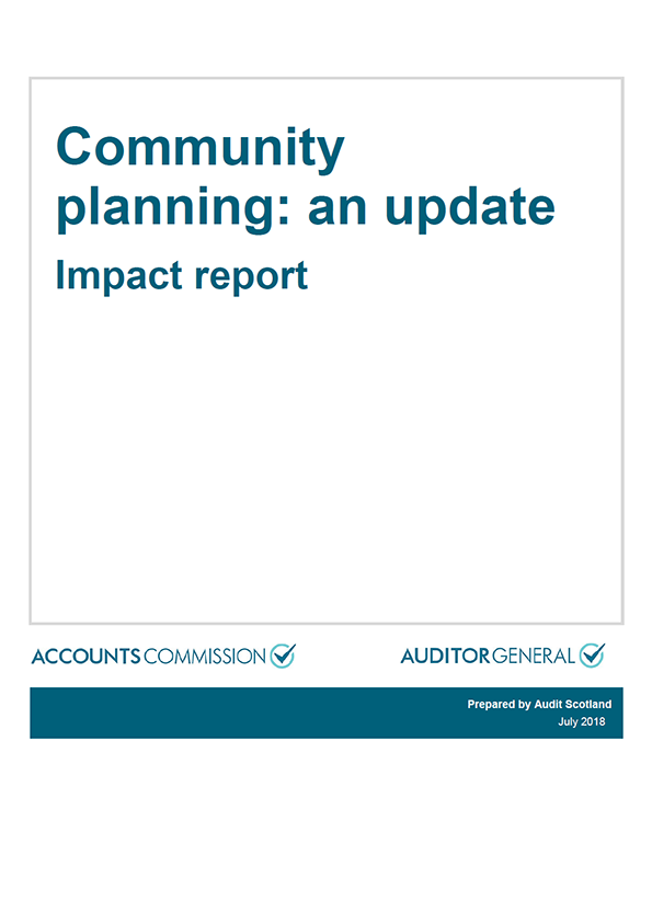 Report cover: Community planning: an update - Impact report