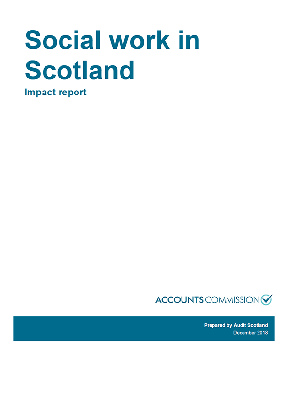 Report cover: Social work in Scotland - Impact report