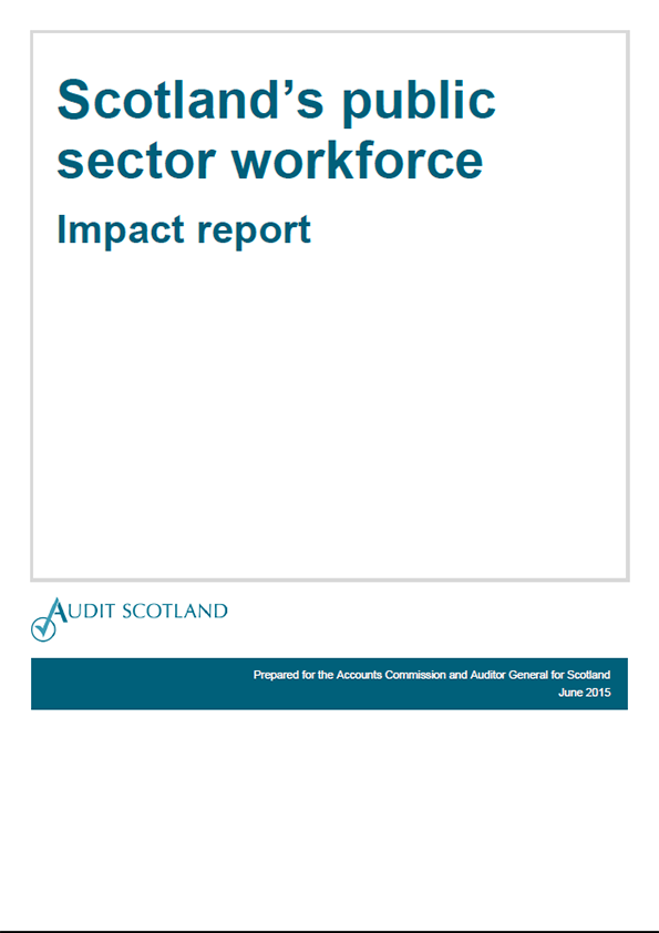 Report cover: Scotland's public sector workforce - Impact report