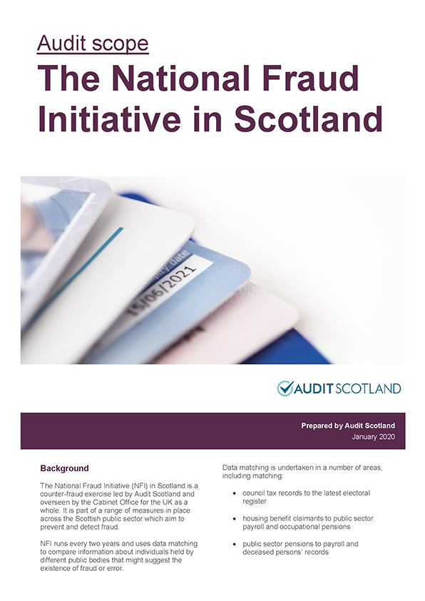 Report cover: The National Fraud Initiative in Scotland