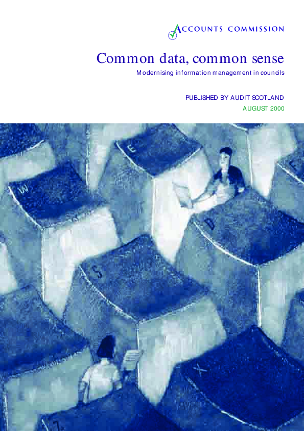 Report cover: Common data, common sense - Modernising information management in councils
