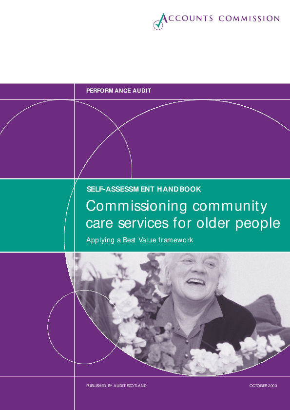 Report cover: Commissioning community care services for older people - Applying a Best Value framework