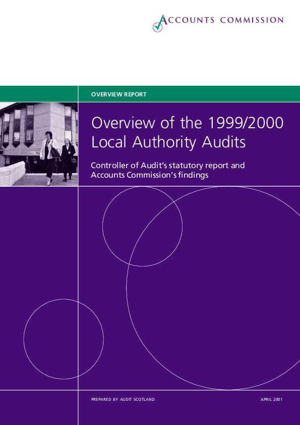 Report cover: Overview of the 1999/2000 Local Authority Audits