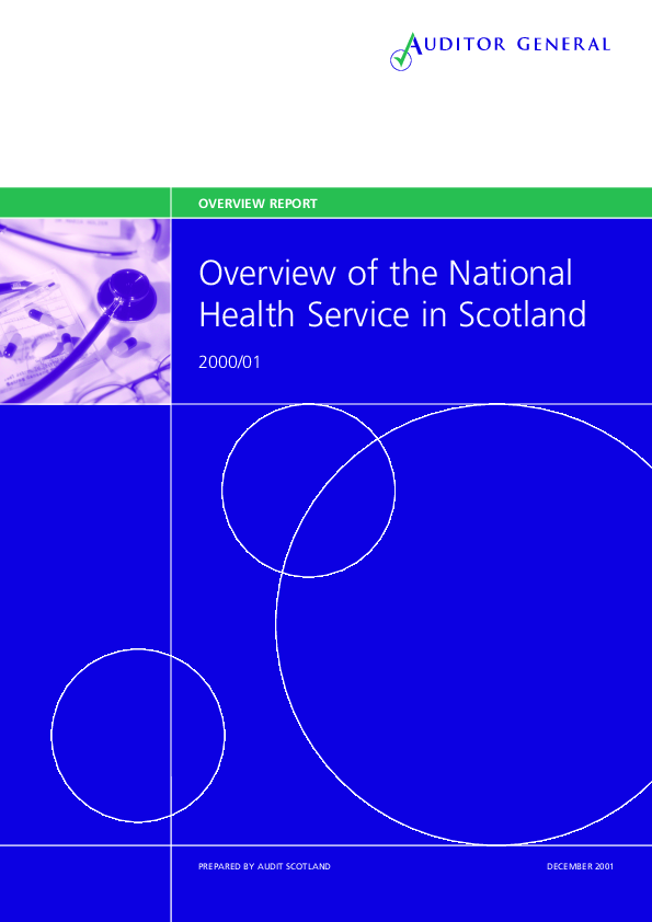 Report cover: Overview of the National Health Service in Scotland 2000/2001