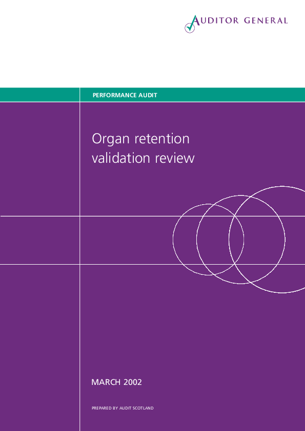 Report cover: Organ retention validation review