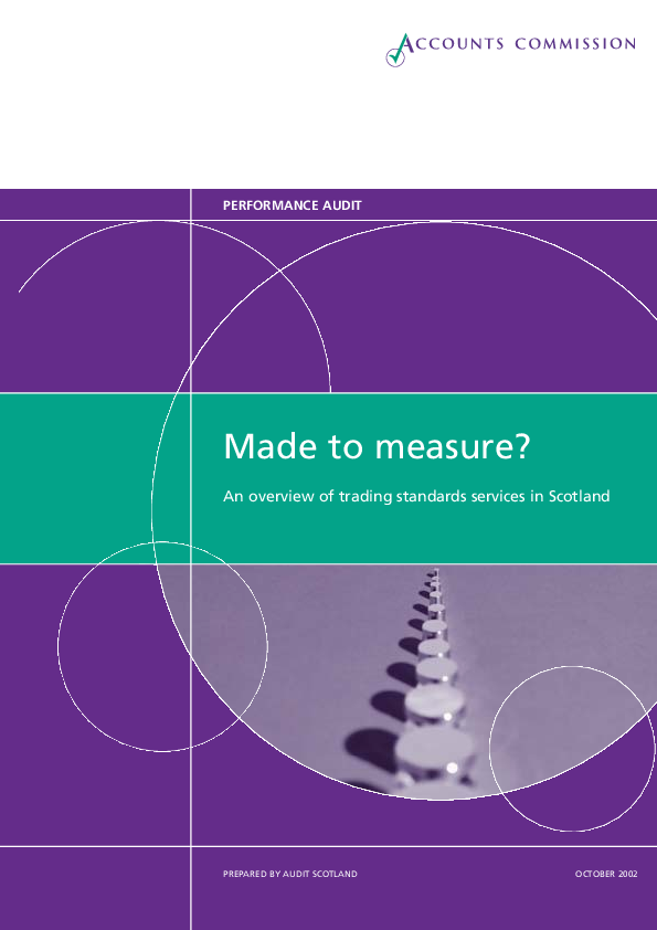 Report cover: Made to Measure - An overview of Trading Standards services in Scotland