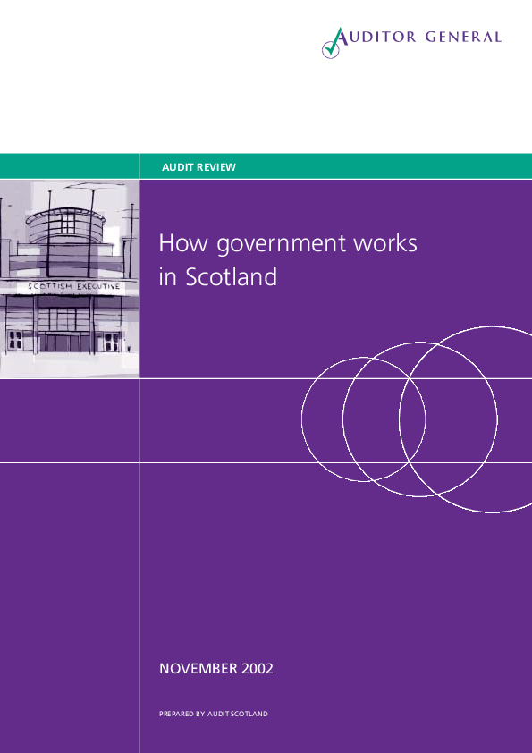 Report cover: How government works in Scotland
