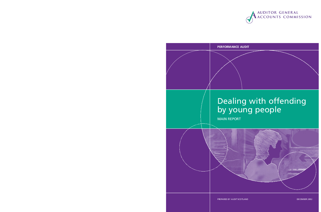 Report cover: Dealing with offending by young people