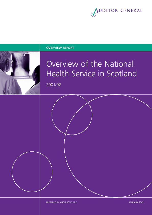 Report cover: Overview of the National Health Service in Scotland 2001/02