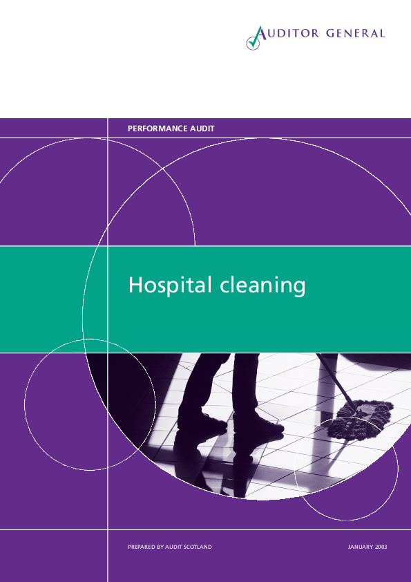 Report cover: Hospital cleaning