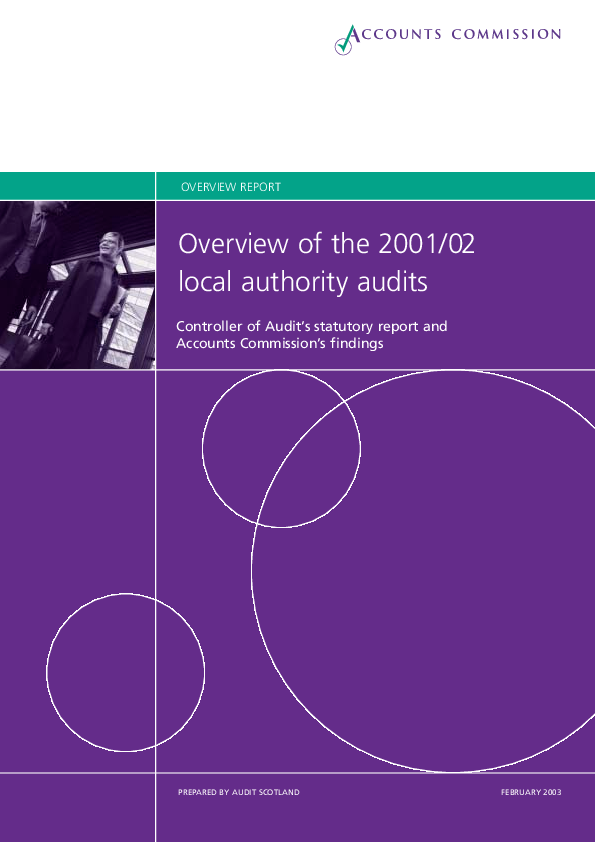 Report cover: Overview of 2001/02 Local Authority Audits