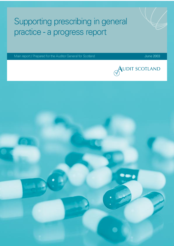 Report cover: Supporting prescribing in general practice - a progress report