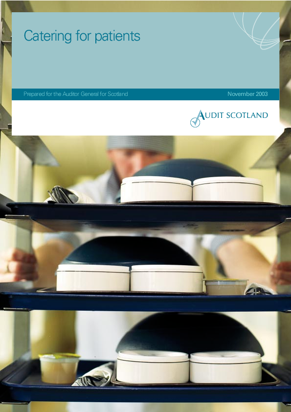 Report cover: Catering for patients