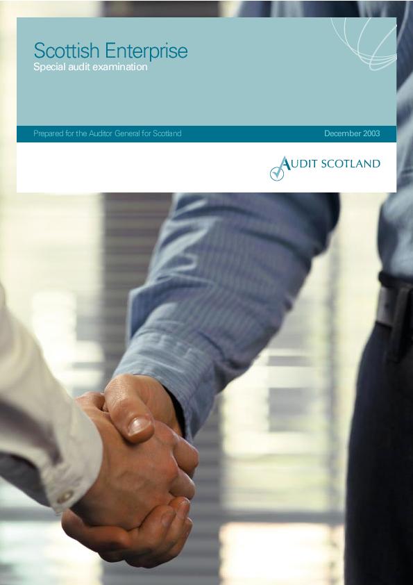 Report cover: Scottish Enterprise: Special audit examination